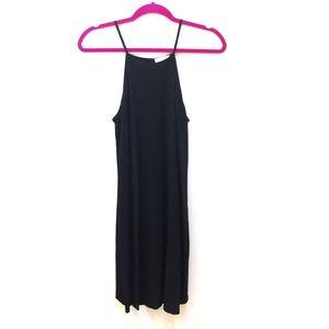 Zara open back mini black dress Medium
